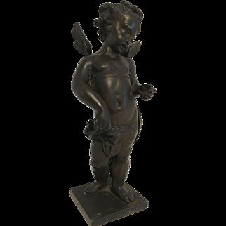 Magnificent Antique Victorian Art Nouveau Era Bronze Cherub Putti C. 1850-1900