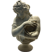 "Exquisite Large Vintage Plaster & Gesso Bust of Minton's 'Venus"" after Clodion"