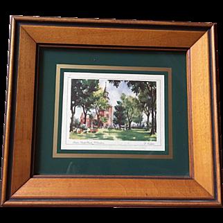 Framed Image of Church in Williamsburg