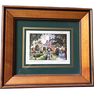 Framed Image of Governor's Palace in Williamsburg