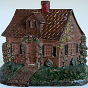 Circa 1930's Hubley Cast Iron  Cottage Doorstop #211
