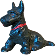 Hubley Cast Iron Scottie Dog Paperweight Circa 1930's