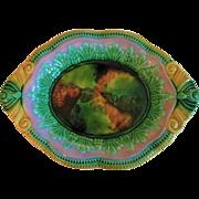Circa 1880's  English Majolica Bread Platter
