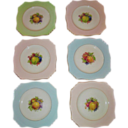 Vintage English Royal Winton Pastel Fruit Plates