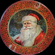 Circa 1915 Tindeco Santa Christmas Tin Large