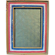 Circa 1917 WWI Cast Iron Picture Frame Red, White, Blue