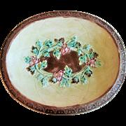 Circa 1880's English Majolica Bread Tray