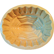 Circa 1900 Yellow Ware Corn Mold