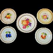 Vintage German Reticulated Fruit Plates