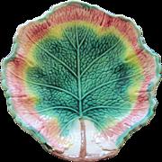Victorian Circa 1880 Majolica Leaf