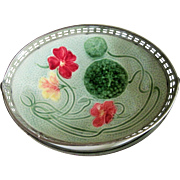 Sweet Circa 1900 German Majolica Candy Dish