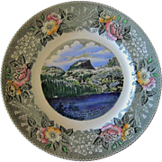 Vintage Rocky Mountain National Park Estes Park Colorado Souvenir Plate