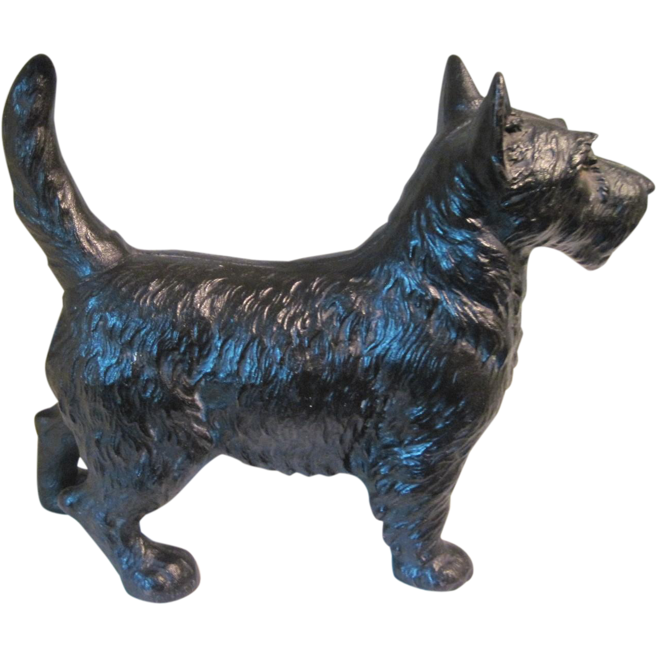 Circa 1930 39 s hubley cast iron scotty dog doorstop from gaylegreen on ruby lane - Cast iron dog doorstop ...