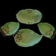 Vintage Carlton Ware Apple Blossom Leaf Dishes 4 pcs