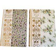 Two Floral Cover Books Circa 1901
