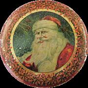 Tindeco Santa Christmas Candy Tin Circa 1915