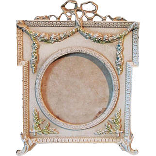 Cast Iron Figural Painted Picture Frame Circa 1930's