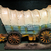 1930's Cast Iron Doorstop Conestoga Wagon
