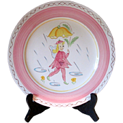 "Circa 1950's Stangl Kiddieware ""Pink Fairy"" Plate"