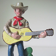 Circa 1950 Cast Iron Singing Cowboy Bottle Opener