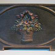 1930's Cast Iron Bradley & Hubbard  Flower Medallion Letter Holder