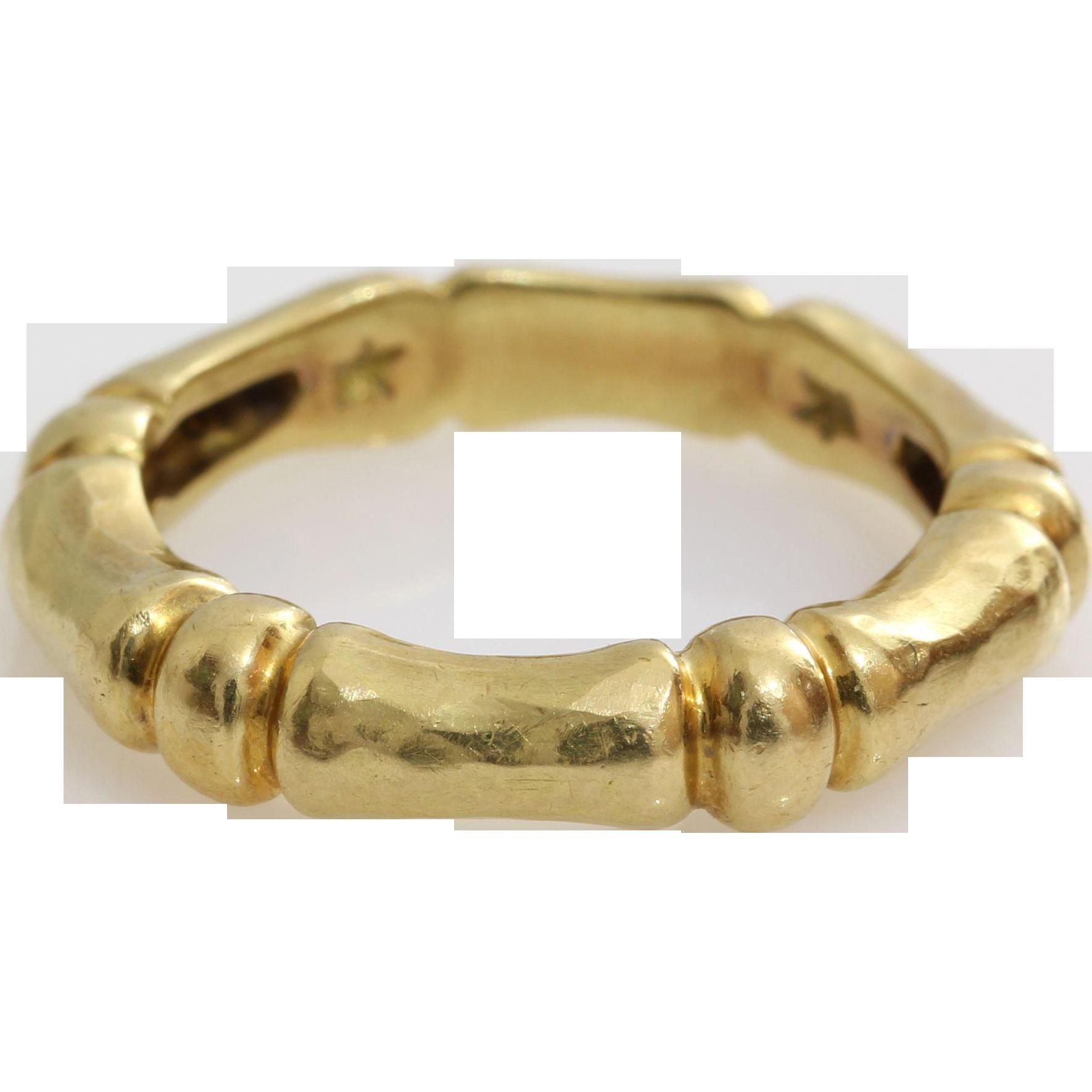 vintage wedding ring 18k yellow gold marriage band hern