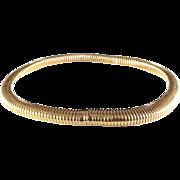 Gold Choker Necklace   18 Karat Yellow   Vintage Switzerland Omega