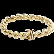 Gold Link Bracelet | 14 Karat Yellow | Vintage Italy Unisex Jewelry