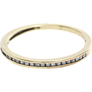 Diamond Wedding Ring | 14K Yellow Gold | Marriage Band Vintage Round