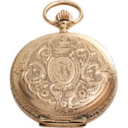 Antique Pocket Watch | 14K Rose Gold | Swiss Hunter Savonette Fob