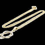 Magen David Pendant Necklace | 14K Yellow Gold | Vintage Bicolor Chain