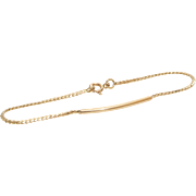 Braided Gold Bracelet | 14K Yellow Link Rope | Tubular Retro Vintage
