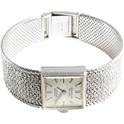 Retro Ladies Wrist Watch | 9K White Gold | Vintage British ETA Swiss