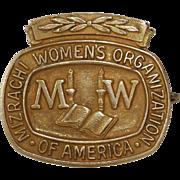Mizrachi Womens Brooch | 14K Yellow Gold | Vintage America Pin