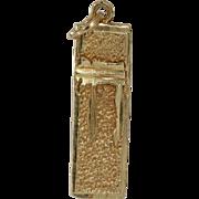 Gold Chai Pendant | 14K Yellow Charm | Israel Judaica Vintage Hai