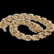 Gold Link Bracelet | 14 Karat Yellow Vintage | Charm Safety Chain 14K