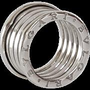 Bulgari B.Zero1 4-Band Ring | 18K White Gold | Vintage Italy Cocktail