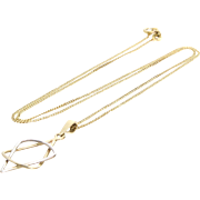 Magen David Pendant Necklace | 14K Yellow Gold | Vintage Bicolor Chain