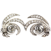 Art Deco Diamond Earrings | 14K White Gold Drop | Victorian Vintage