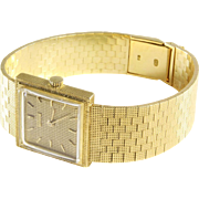 Jean Perret Ladies Watch | 18K Yellow Gold | Swiss Vintage Retro Wrist
