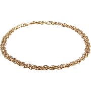 Gold Chain Necklace | 9K Rose Yellow | Collar Length Vintage Link