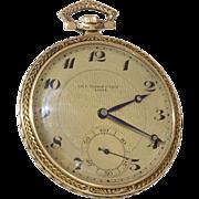 Tissot Gold Pocket Watch | 14K Yellow Gold | Swiss Victorian Antique