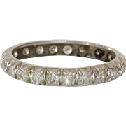Diamond Eternity Ring | 14K White Gold | Vintage Brilliant Cut