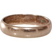Vintage Wedding Ring   9K Rose Gold   Marriage Band Russia Retro 9ct