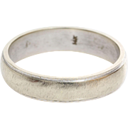 Vintage Wedding Ring | 14K White Gold | Marriage Band Two Tone USA