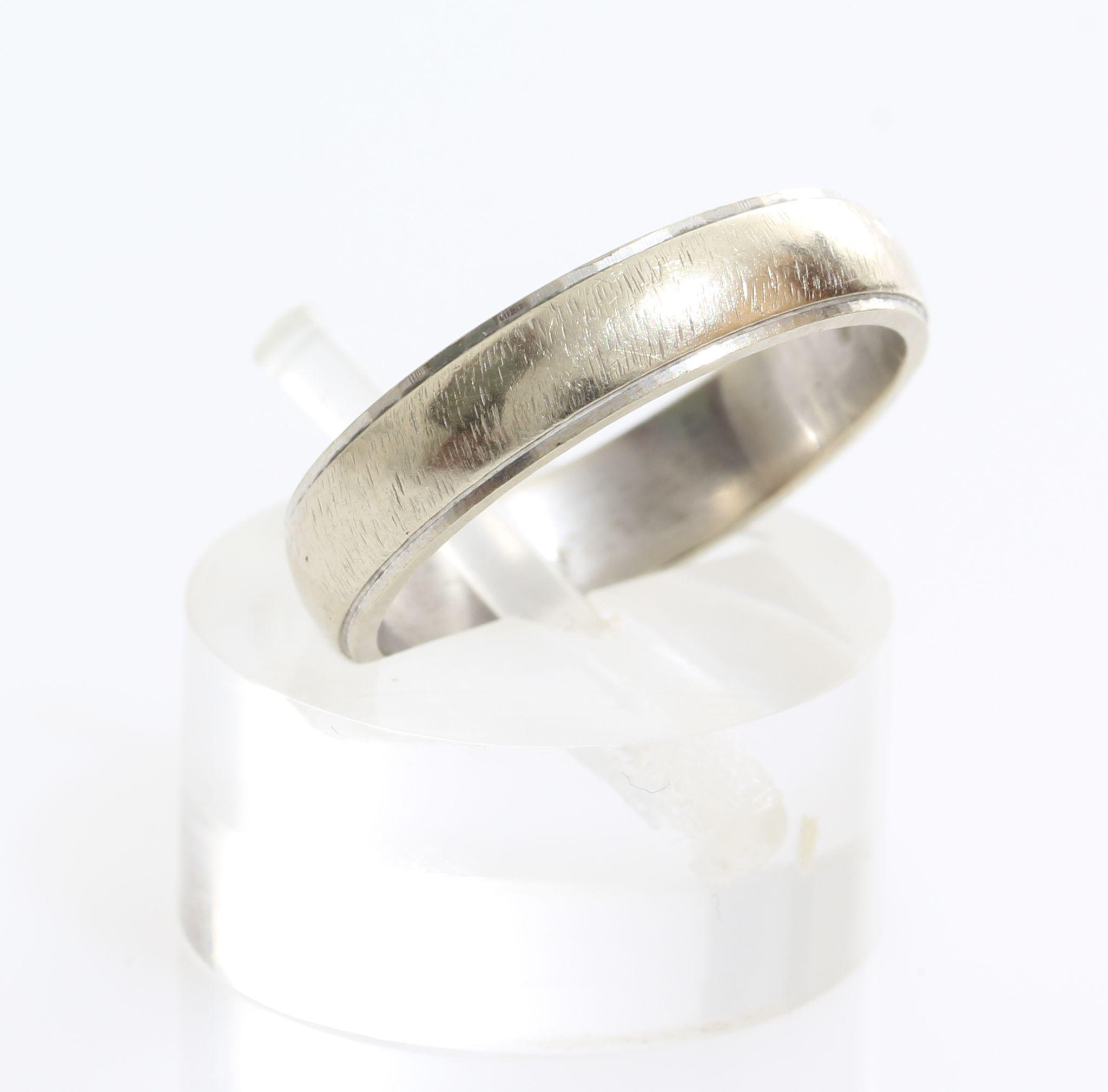 Vintage Wedding Ring 14K White Gold
