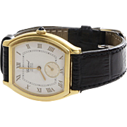 Chopard Mens Watch | 18K Yellow Gold | Vintage Leather Strap Ref. 2246