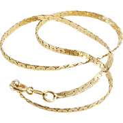Braided Gold Bracelet | 14K Yellow Link | Vintage Woven Flexible