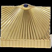 Cartier Gold Cigarette Case   18K Yellow Gold Sapphire   Vintage Box