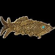 Chinese Export Fish Pendants | Vermeil Sterling Silver | Vintage